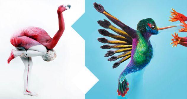 مجموعة من 20 صورة مذهلة لفن تجسيد الحيوانات بالجسد